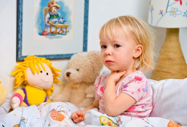 Болезни горла и гортани у ребенка