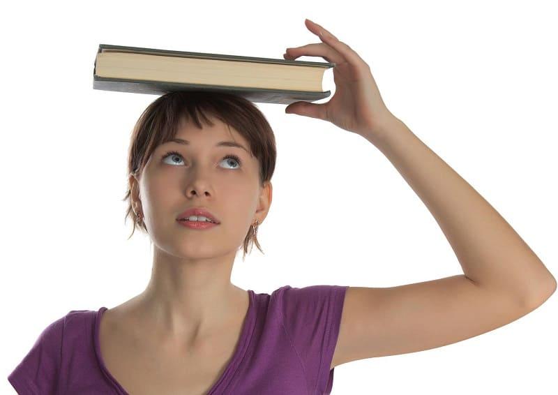 Упражнение с книгой для спины
