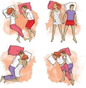Сон вдвоем ночные позы отношений