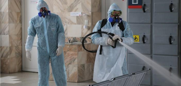 Непрерывное использование дезинфицирующих средств для обработки поверхностей предупреждает распространение вирусов