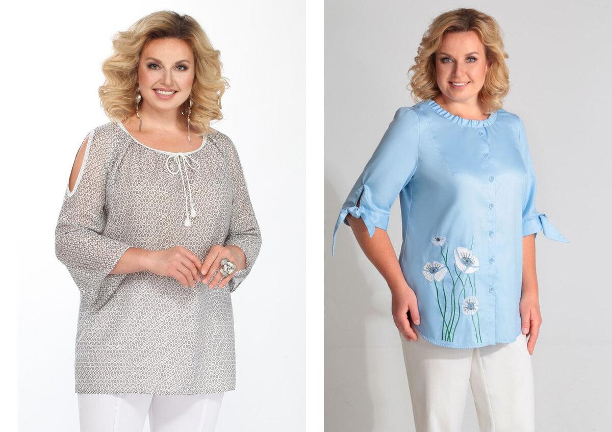 Летние блузки для женщины 50+ и ваш образ будет идеальным