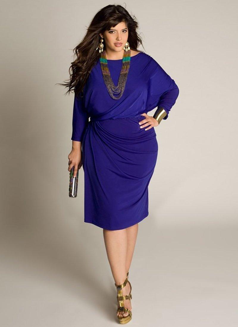 модели платьев для полных женщин маленького роста