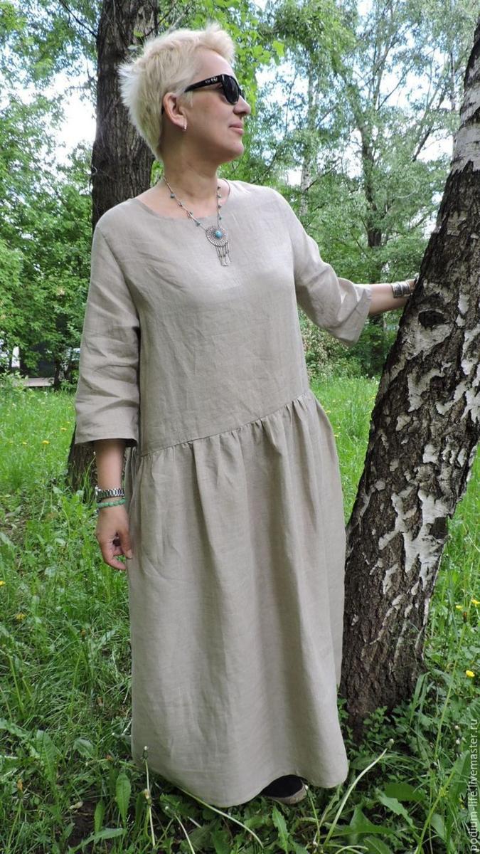 Одежда изо льна – идеальное решение для лета. Образы для женщин 45+