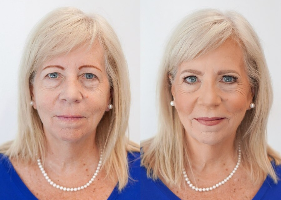 Летний макияж в стиле нюд для зрелого лица