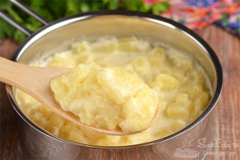 И без мяса такая тушеная картошка получается сытной и очень вкусной (делюсь рецептом)
