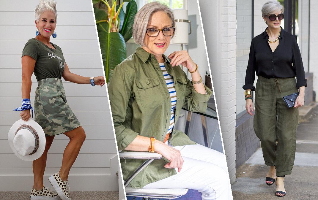 Необычная изюминка – военный стиль для женщин зрелого возраста (45+)