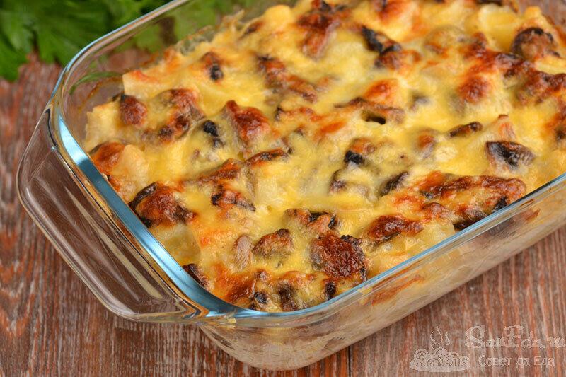 За 35 минут из картошки и грибов готовлю вкуснейшую запеканку (делюсь рецептом)