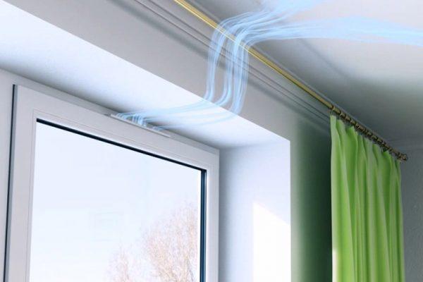 Знакомый дал совет как проветривать помещение с полностью закрытыми окнами. нужен приточный клапан
