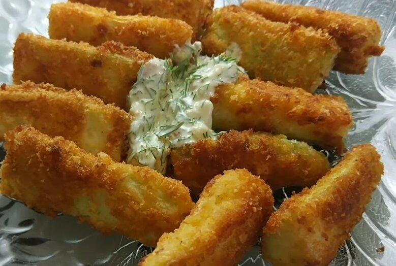 Хрустящие палочки из кабачков – гора быстрой закуски, легко и вкусно