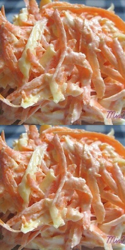 Морковный салат с яйцом — можно даже на ночь!