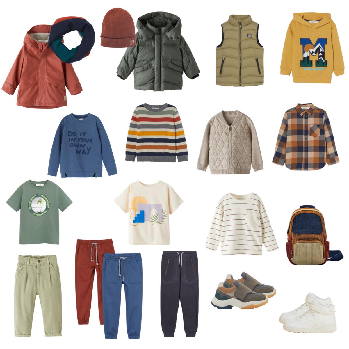 Капсульный гардероб для мальчиков-дошкольников на осень