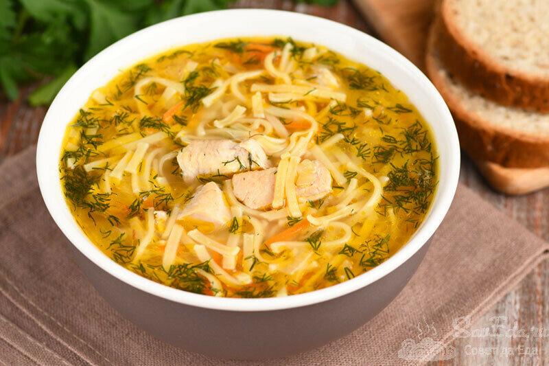 Суп-лапшу с курицей готовлю только таким способом. Получается очень быстро и вкусно (рецепт с фото)