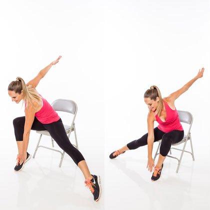 7 упражнений для обвисшего живота, которые можно делать сидя на стуле!