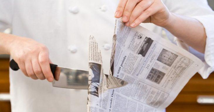 Как заточить ножи без специального камня