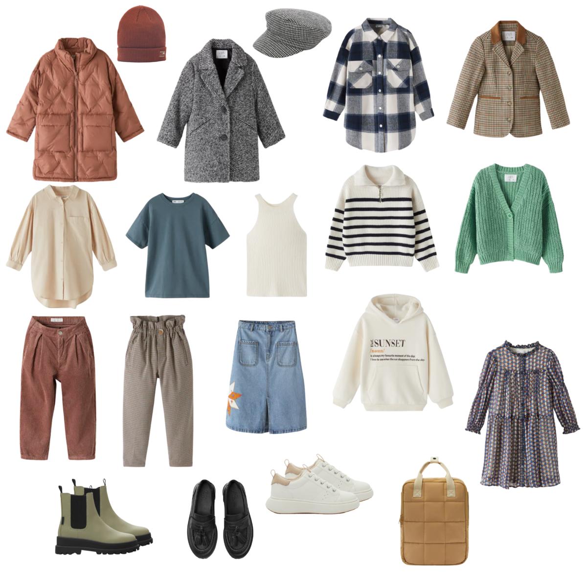 Капсульный гардероб для девочек-школьниц из Zara