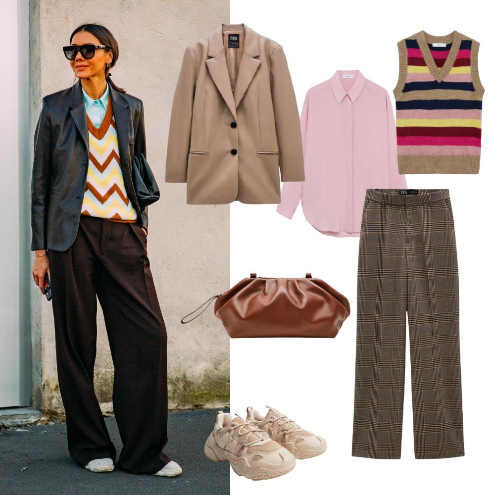 Блейзер и брюки Zara, остальное Mango