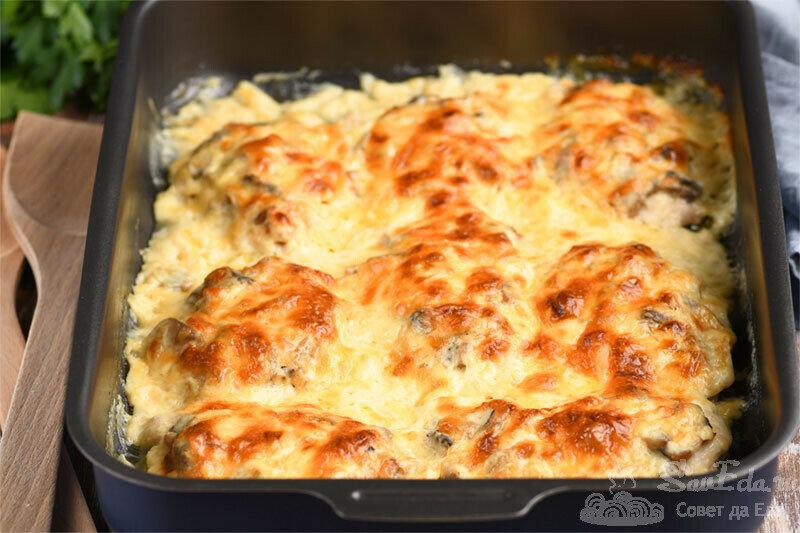 Куриные отбивные под белым соусом в духовке. Без майонеза, сметаны и сливок (рецепт с фото)