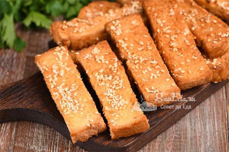 Хрустящие медовые гренки (рецепт с фото)