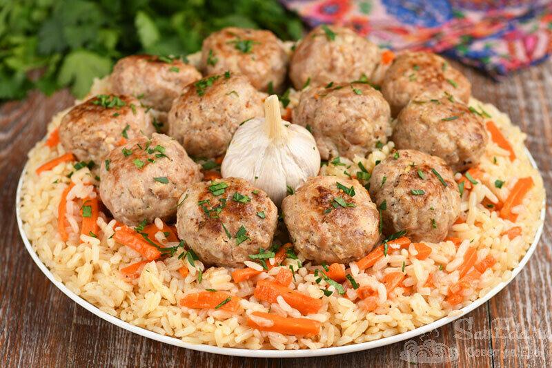 Тефтели с рисом а-ля Плов (рецепт с фото)
