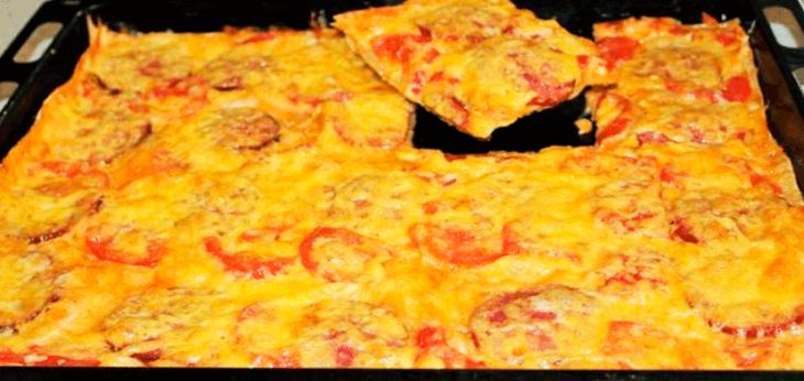 Гости в восторге — быстрая пицца из лаваша и никакой возни с тестом