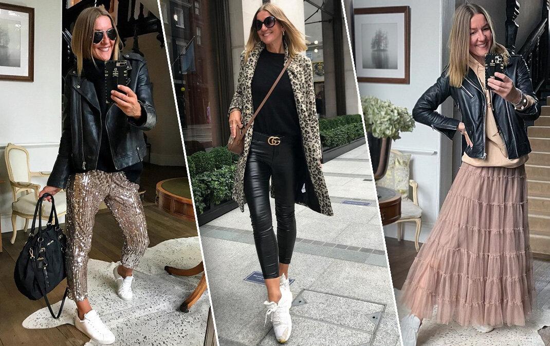 Зрелая женщина и молодежная одежда: рваные джинсы, пайетки и юбка-пачка из тюля