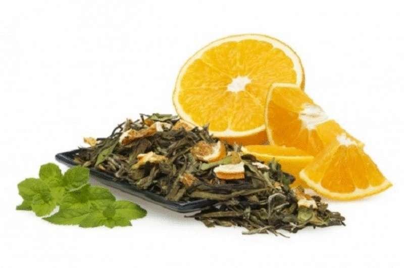 Зеленый чай с апельсином для мгновенного похудения