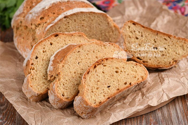 Бездрожжевой хлеб простым способом (рецепт с фото)