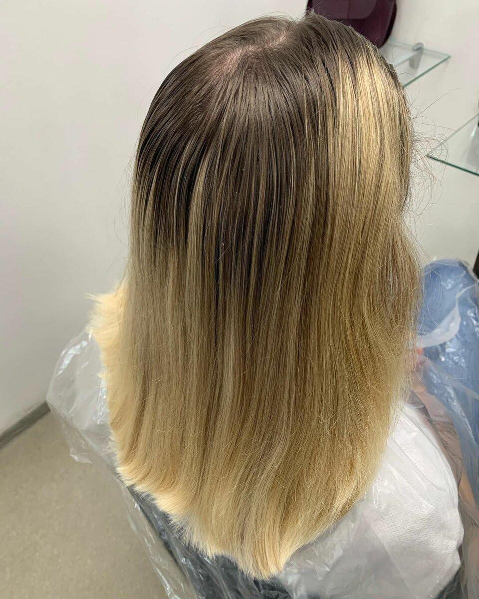 Волосы Даши перед покраской