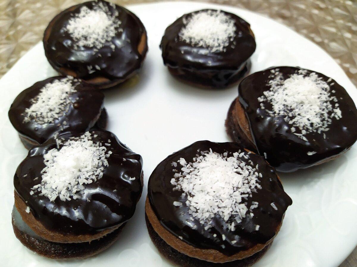 Мягкое шоколадное печенье из 3 ингредиентов за 10 минут