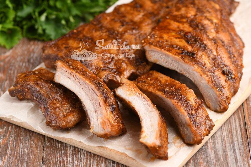 Подкопченные свиные ребрышки в домашних условиях без жидкого дыма и коптильни